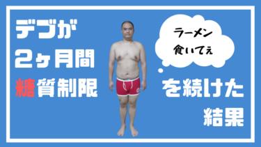 【ダイエット】デブが2ヶ月間糖質制限を続けた結果