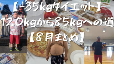 【-35kgダイエット】120kgから85kgへの道【8月まとめ】