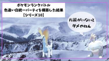 【ポケモン】ランクバトル用色違い白統一パーティを構築した結果【シリーズ10】